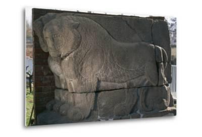 Bas-Relief with Lions from Kultepe (Kanesh)--Metal Print