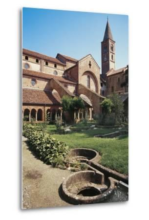 Cloister of the Abbey of St Mary of Staffarda--Metal Print