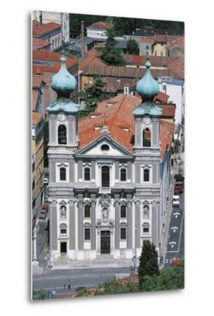 Facade of the Church of St Ignatius of Loyola--Metal Print