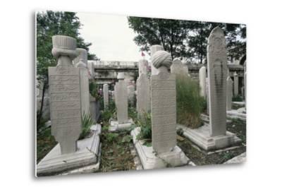 Graves in Cemetery of Suleymaniye Mosque (Suleymaniye Camii)--Metal Print