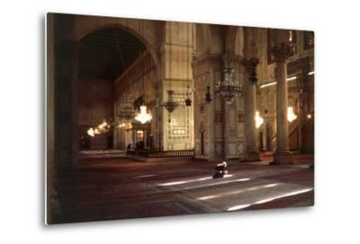 Interior of Umayyad Mosque or Great Mosque of Damascus--Metal Print