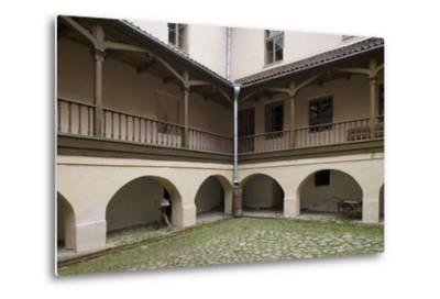 Inner Courtyard of Bishop's Castle (Founded in 13th Century) in Edole--Metal Print