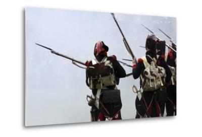 Historical Reenactment: Soldiers of the Tirailleurs Du Po Battalion--Metal Print