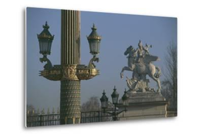 Lampposts Added During the 19th Century Upgrade of the Place De La Concorde--Metal Print