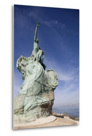Monument Honoring Heroes and Victims of Sea (1923)--Metal Print
