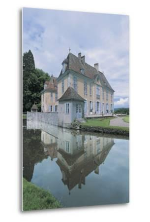 Reflection of a Castle in Water--Metal Print