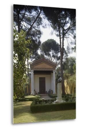 Reconstruction of an Etruscan Temple in the Courtyard of the New Wing of Villa Giulia--Metal Print