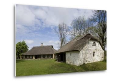Houses with Thatched Roofs--Metal Print