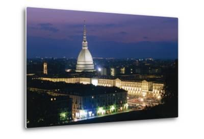 Night View of Turin--Metal Print