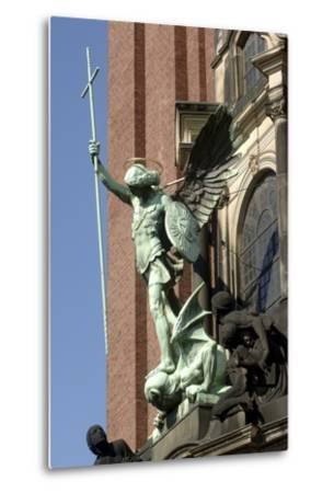 St Michael Defeating Devil--Metal Print