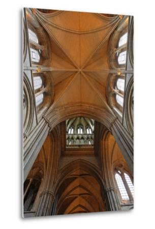 Double Barrel Vault of the Neo-Gothic Truro Cathedral (19th Century)--Metal Print