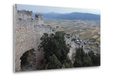 Ruins of San Pio Delle Camere Castle and Walled Village, 12th-16th Century, Abruzzo, Italy--Metal Print