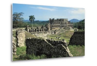Sans-Souci Palace, 1810-1813, Milot (Unesco World Heritage List, 1982), Nord Department, Haiti--Metal Print