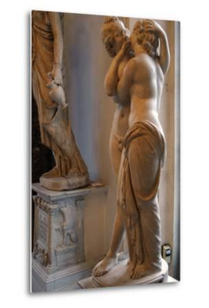 Roman Art. Statue of Cupid and Psyche. Marble. Copy. Capitoline Museums. Rome. Italy--Metal Print