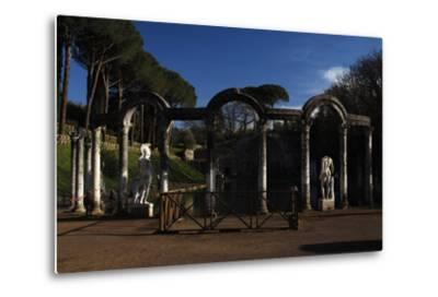 Hadrian's Villa. the Canopus with the Statue of God Mars. 2nd Century. Italy--Metal Print