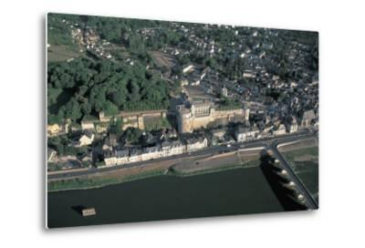 High Angle View of a Castle at the Waterfront, Chateau D'Amboise, Amboise, Centre, France--Metal Print