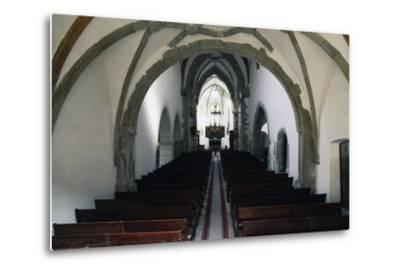 Nave of Prejmer Fortified Church, 15th Century, Late Gothic Style, Romania--Metal Print