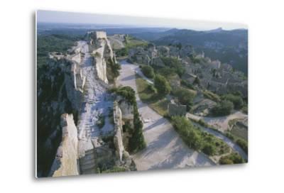 Ruins of Les Baux-De-Provence Castle, Provence-Alpes-Cote D'Azur, France--Metal Print