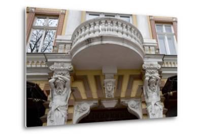 Detail of the Decoration on the Facade of Jugendstil Building, Odessa, Ukraine--Metal Print