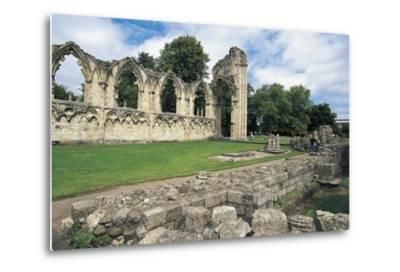 Ruins of Abbey of St Mary, Benedictine Abbey, 13th Century, York, England, United Kingdom--Metal Print