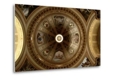 Ceiling of Cathedral of St Eusebius, Vercelli Cathedral, Piedmont, Italy--Metal Print