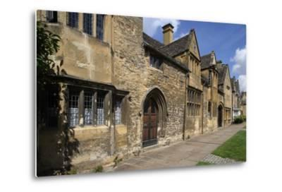 Typical Sandstone Houses, Chipping Camden, Gloucestershire, United Kingdom--Metal Print