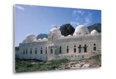 Al Ashrafiyya Mosque with Twin Minarets, 13th Century, Taiz, Taiz Governorate, Yemen--Metal Print