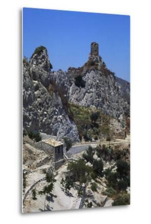 Norman Tower known as Pizzofalcone Tower, Roccella Ionica, Calabria, Italy--Metal Print