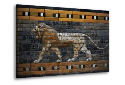 Babylon's Lion. Lion Decorated the Processional Wal (Ishtar Gate). 575 BC--Metal Print