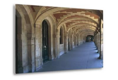 The Place Des Vosges Arcades, 1612, in the Marais District, Paris, Ile-De-France, France--Metal Print