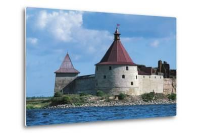 Slisselburg Fortress, also known as Petrokrepost or Oresek Fortress in Lake Ladoga, Russia--Metal Print