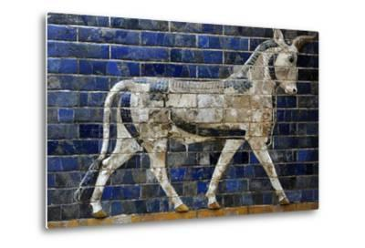 Decoration with Aurochs and Dragons in the Ishtar Gate. 6th Century BC. Babylon--Metal Print