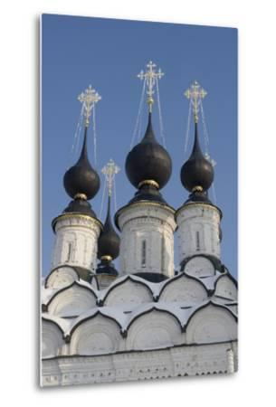 The Domes of the Winter Church of St Antipas, 1745, Suzdal, Golden Ring, Russia--Metal Print