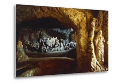Sculptures in Church of Piedigrotta, 18th-19th Century, Pizzo Calabro, Calabria, Italy--Metal Print