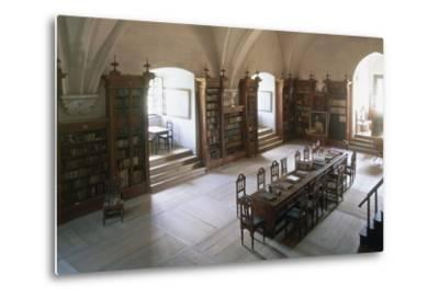 Renaissance Vaulted Library in Pernstejn Castle, 1450-1550, Moravia, Czech Republic--Metal Print
