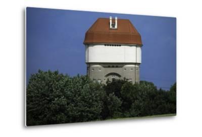 Hohenbudberg Water Tower, Duisburg-Rheinhausen, Baden-Wuerttemberg, Germany--Metal Print