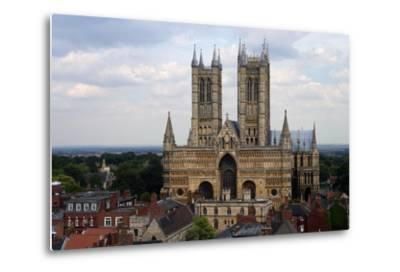 Lincoln Cathedral, Consecrated in 1092, English Gothic Style, Lincoln, Lincolnshire, United Kingdom--Metal Print