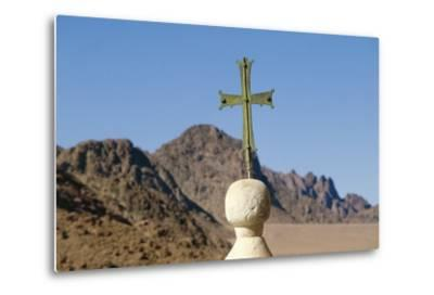 Cross on Top of Saint Catherine's Monastery, Sinai, Egypt, 6th Century--Metal Print