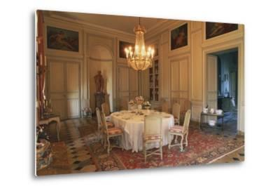 Dining Room in Chateau of La Motte-Tilly, 18th Century, Nogent-Sur-Seine, Champagne-Ardenne, France--Metal Print