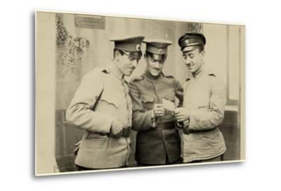 Bulgarian Soldiers Enjoying a Photo, C.1914--Metal Print