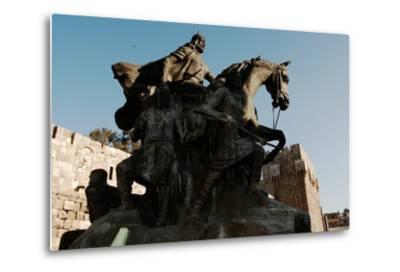 Saladin Memorial, Entrance to Citadel, Damascus, Syria--Metal Print