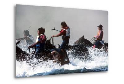 Horse Race, Omak Stampede Celebration, Omak, Washington--Metal Print