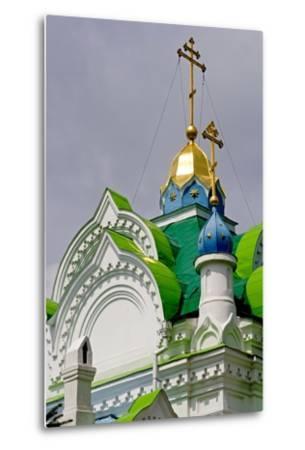 The Domes of the Sv Ekaterininskaya Church, Feodosia, Crimea, Ukraine--Metal Print