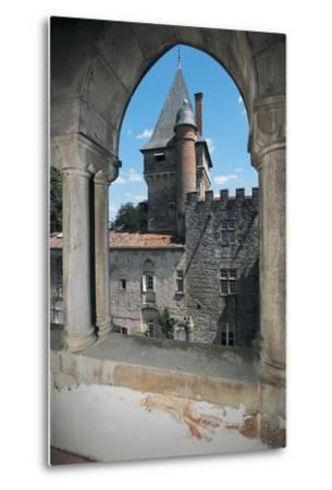 Gate of a Castle, Montespieu Castle, Midi-Pyrenees, France--Metal Print