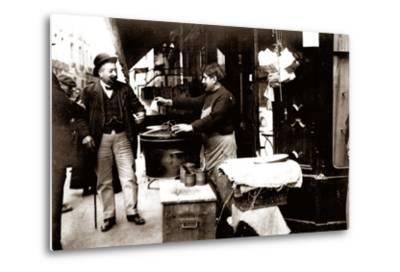 Chestnut Seller, Paris, 1900--Metal Print