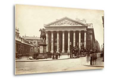 Royal Exchange, London, C.1885--Metal Print