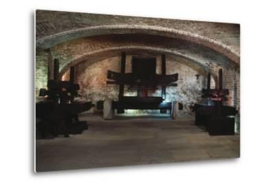 Presses in the Martini and Rossi Museum, Pessione, Piedmont, Italy--Metal Print
