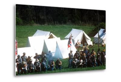 Civil War Reenactment, Tipton Haynes Farm, Johnson City, Tennessee--Metal Print