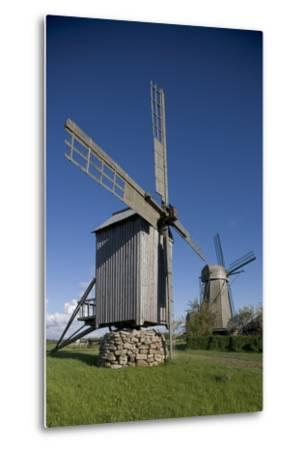 Wooden Windmills, Angla, Saaremaa Island, Estonia--Metal Print