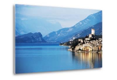 View of Malcesine, Lake Garda, Veneto, Italy--Metal Print
